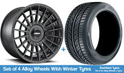 Rotiform Winter Alloy Wheels And Snow Tyres 20 For Ford Mustang V6 [mk6] 15-20