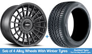 Rotiform Winter Alloy Wheels And Snow Tyres 20 For Ford Mustang V8 [mk6] 15-20