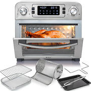 Deco Chef 24qt Countertop Toaster Oven Air Fryer Stainless Steel