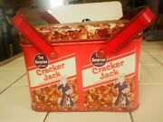 Rare Vintage Cracker Jack Double Handled Tin With Lid
