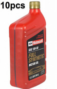 Pack Of 10 Quarts Engine Motor Oil Full Synthetic Motorcraft Xo-5w50-qgt Ford Oe