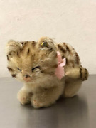 vintage Steiff snurry Cat Ear Button Movable Neck With Beard 5.9 In Pretty Cat