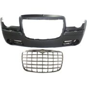 Set Of 2 Bumper Covers Front 4805774ad 4805928ac For Chrysler 300 05-10 Pair