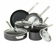 Viking Culinary Hard Anodized Nonstick Cookware Set 10 Piece Gray
