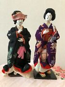 Japanese Tradition Antique Doll The Taisyou Period Costume Dolls 衣裳人形 1915 着物 Jh