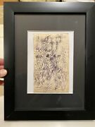 """Purvis Young Original Signed """"young Accept Ink Drawing Dated 1980 Coa"""