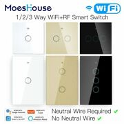 Wifi Smart Light Touch Switch No Neutral Wire Required Smart Life Tuya App