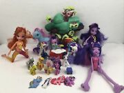 Huge Mixed Lot Of My Little Pony Mixed Sizes Twilight Sparkle House Equestria