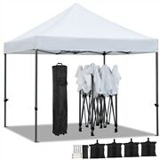 10'x10' Pop Up Canopy Tent Commercial Canopy Party Tent Patio Gazebo Canopy
