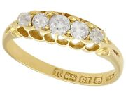 0.66 Ct Old Cut Diamond 18carat Yellow Gold Five Stone Ring Antique Victorian N