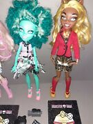 Monster High Frights Camera Action Clawdia Wolf, Honey Swamp, Cleo Doll Bundle