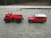 Wiking Fire Truck Water Tank Truck Fire Chief Car N Scale 2 1/4 To 2