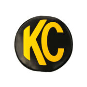 Kc Hilites Light Covers 6in Round Black W/yellow Soft