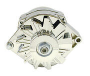 Gm Alternator V Belt Pul Ley 1 Wire 100amp Chrome Racing Power Co Packaged R3902