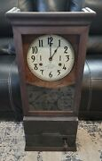Antique International Time Recording Co. Clock / Includes Cabinet Locking Only