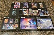 14 Buffalo Games Star Wars Jigsaw Puzzle Lot 13400 Total Pieces