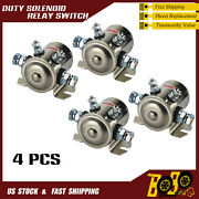 4pcs Continuous Duty Solenoid Relay Switch 200amp Winch Golf Cart 12v Heavy Duty
