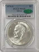 1976-s Eisenhower 40 Silver Dollar - Pcgs Ms-68 Cac