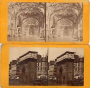 Lot Of 4 Vtg Stereoview Stereograph Cards -