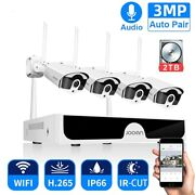 Jooan 4ch Nvr Hd 3mpx Audio Record Outdoor P2p Wifi Ip Cctv Camera System