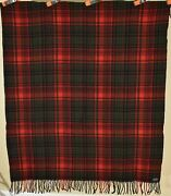 Vintage 30and039s Pendleton Mills Wool Blanket W/label Nice Red And Great Condition