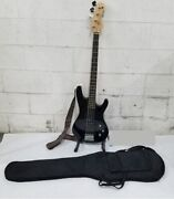 Canvas Electric Bass Guitar W/carrying Bag And Strap Like Ne