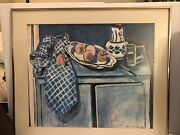 Henri Matisse 1928 Oil Painting Andldquodishes And Fruit 29.5andrdquox 25.5andrdquo