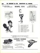 1955 Paper Ad Rempel Toy Rubber Toys Roofus Rooster Little Cookie Ostrich Auburn