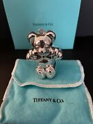 And Co. Sterling Silver Bear 24 G 0.9 Ozchristmas Ornament 3 High 1990