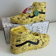 Sk8-hi Peanuts Charlie Brown Snoopy Size 10.5 Mint Gem Rare Limited Edition
