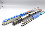 N Scale Train Set- Kato Bachman And Atlas Locomotives Steam Engine And Cars