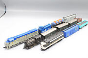 N Scale Train Set- Kato, Bachman And Atlas Locomotives, Steam Engine And Cars