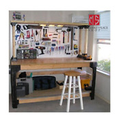 Workbench Garage Shop Work Table Shelves Legs Diy - Lumber And Tools Not Included