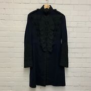 Navy Blue Officers Ceremonial Dress Frock Coat Tunic - Chest 36 British Army