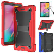 For Samsung Galaxy Tab A 10.1 2019 Smt510 Tablet Case Stand Cover+tempered Glass