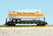 Usa Trains G Scale Flat Car W/trailer R17047 Pacific Fruit Express