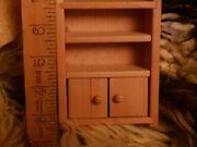 Dolls House Wooden Dresser Cupboard Furniture Wood 4 High 70s Hand Made Toy