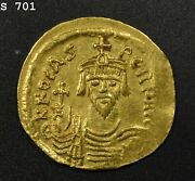 602-610 Ad Byzantine Empire Constantinople Crowned 4.36 Gm Gold High Grade