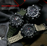Menand039s Waterproof Sports Military Shock Menand039s Analog Quartz Digital Watches