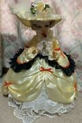 Used French Doll Antique Lady Dress Showa Retro Collection Cute Face Japan