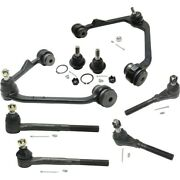 Set Of 8 Control Arm Ball Joint Suspension Kit Front Left-and-right Lh And Rh