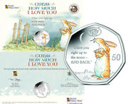 Gibraltar 50 Pence 2021 Bu And039guess How Much I Love You - Hareand039 Mint Card