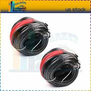 3/8 X 95ft Synthetic Tow Rope Line Winch Recovery Cable High Tensile 2pcs