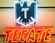 New Cerveza Tecate Light Eagle Beer Neon Sign 24x20 With Hd Vivid Printing