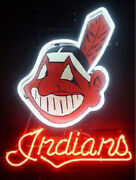 Cleveland Indians Chief Wahoo Light Lamp Neon Sign 24 With Hd Vivid Printing