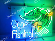New Gone Fishing Get Hooked Fish Light Lamp Neon Sign 24 With Hd Vivid Printing