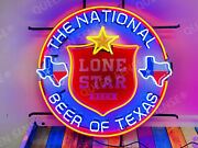 Lone Star Shield The National Beer Of Texas Lamp Neon Sign 24x24 With Hd Vivid