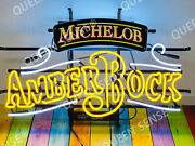 New Michelob Amber Bock Light Lamp Neon Sign 24 With Hd Vivid Printing