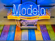 New Cerveza Modelo Especial Lamp Light Neon Sign 24x20 With Hd Vivid Printing