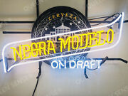 New Cerveza Negra Modelo On Draft Beer Neon Sign 24x20 With Hd Vivid Printing